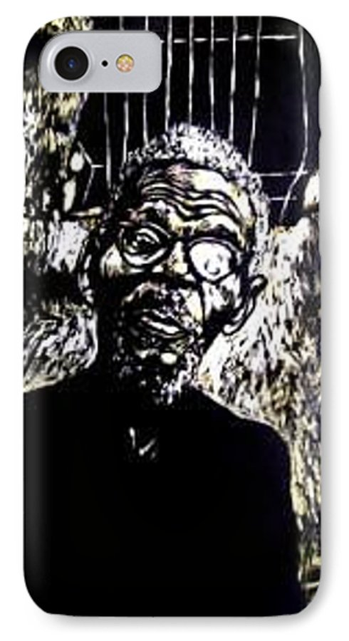 IPhone 7 Case featuring the mixed media Walimu Wally by Chester Elmore