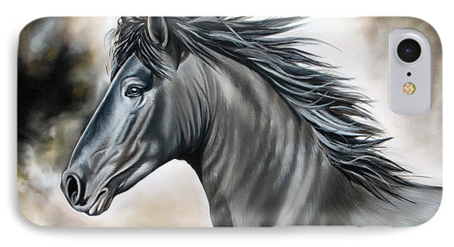 Horse IPhone 7 Case featuring the painting Wanapun by Ilse Kleyn