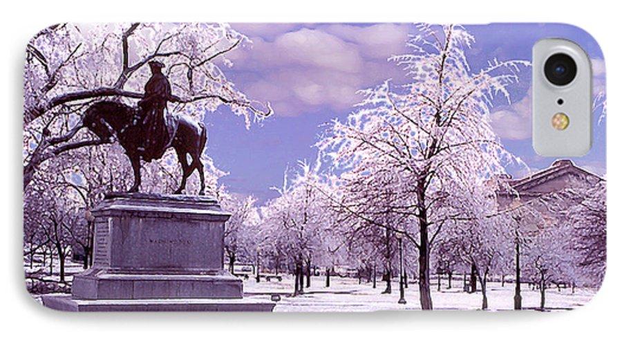 Landscape IPhone 7 Case featuring the photograph Washington Square Park by Steve Karol