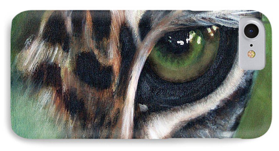 Animals IPhone 7 Case featuring the painting Watching You Watching Me by Fiona Jack