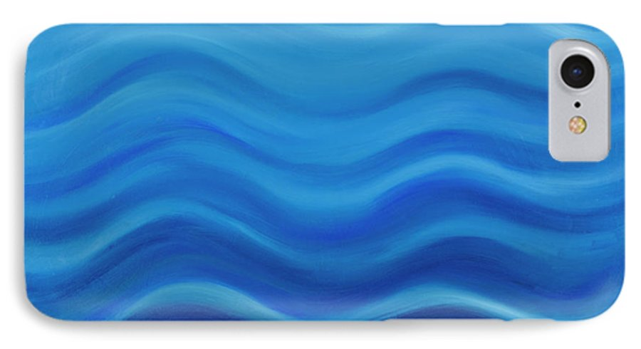 Water IPhone 7 Case featuring the painting Water by Adamantini Feng shui