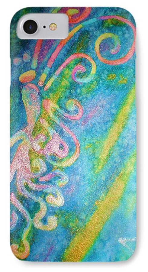 Rainbow IPhone 7 Case featuring the painting Water Fairy by Chandelle Hazen