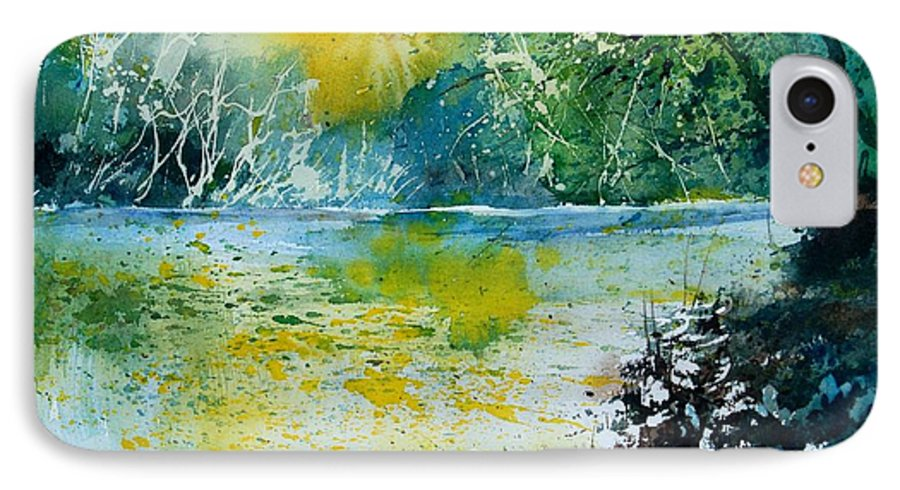 Pond IPhone 7 Case featuring the painting Watercolor 051108 by Pol Ledent