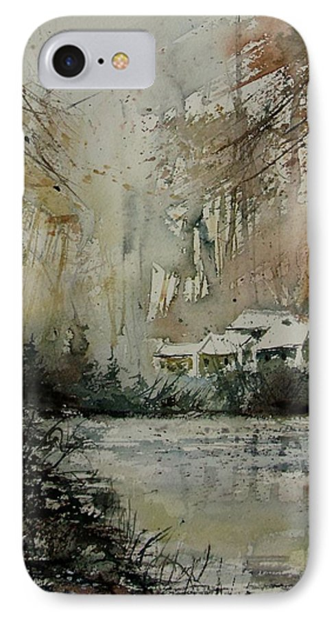 Landscape IPhone 7 Case featuring the painting Watercolor 070608 by Pol Ledent