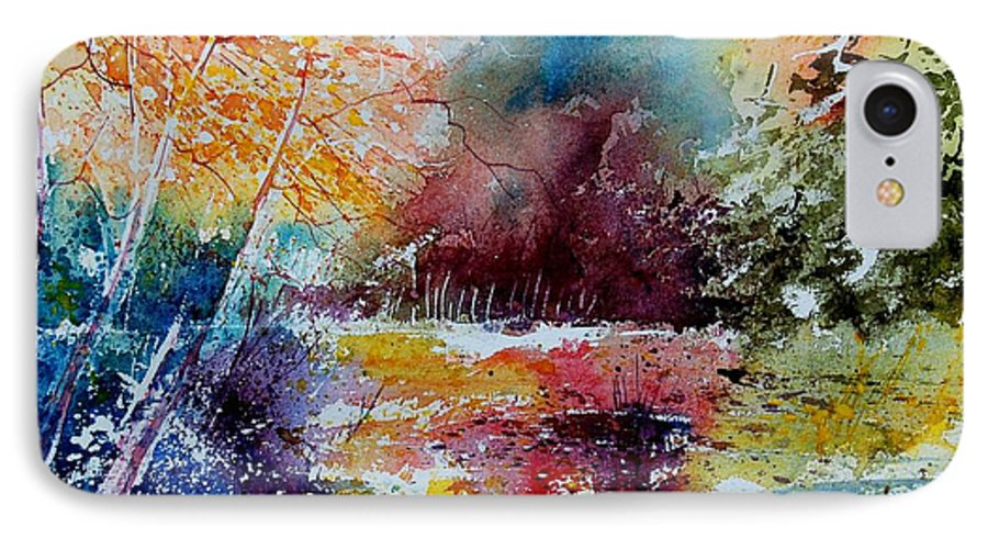 Pond IPhone 7 Case featuring the painting Watercolor 140908 by Pol Ledent