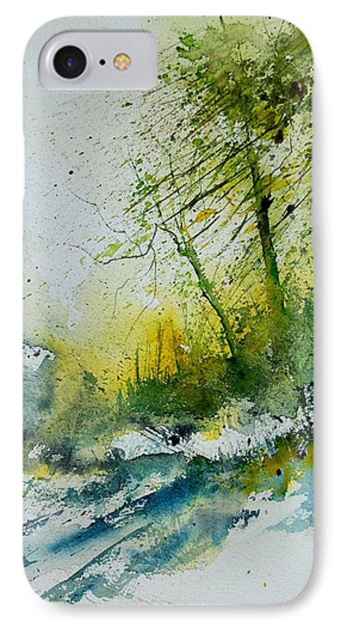 River IPhone 7 Case featuring the painting Watercolor 181207 by Pol Ledent