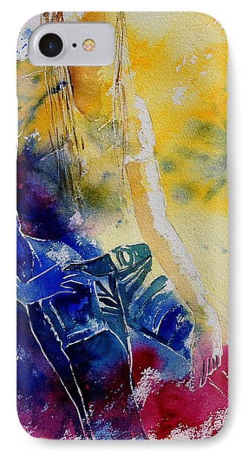 Girl Nude IPhone 7 Case featuring the painting Watercolor 21546 by Pol Ledent