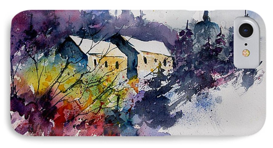River IPhone 7 Case featuring the painting Watercolor 231207 by Pol Ledent