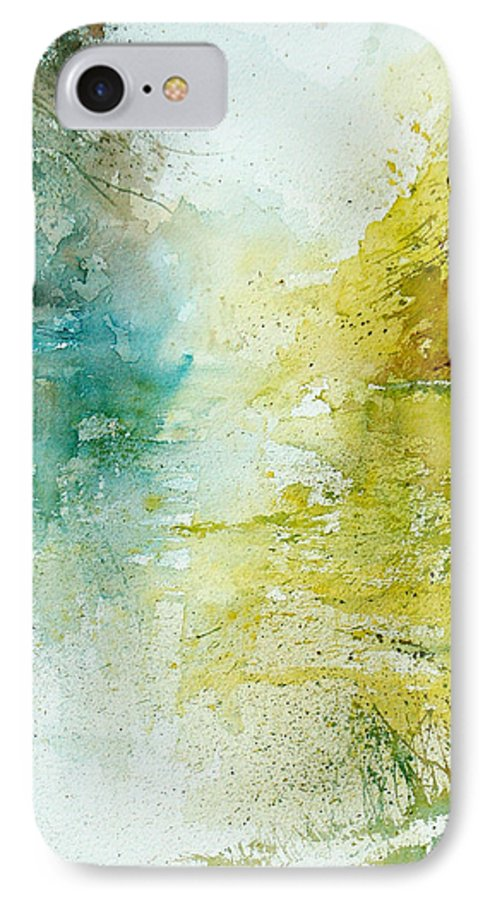 Pond Nature Landscape IPhone 7 Case featuring the painting Watercolor 24465 by Pol Ledent