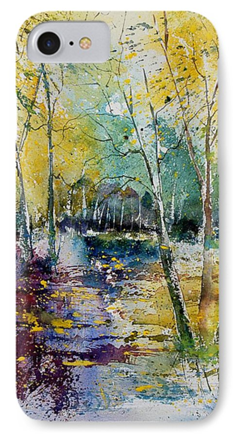 Pond IPhone 7 Case featuring the painting Watercolor 280809 by Pol Ledent