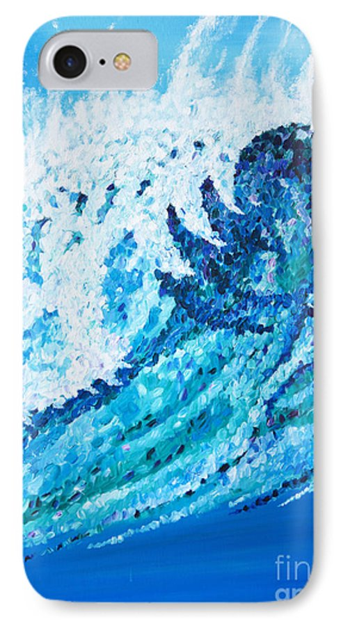 Ocean IPhone 7 Case featuring the painting Watercolor by JoAnn DePolo