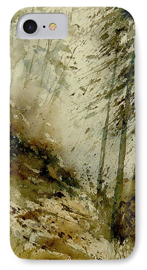 Landscape IPhone 7 Case featuring the painting Watercolor Misty Atmosphere by Pol Ledent