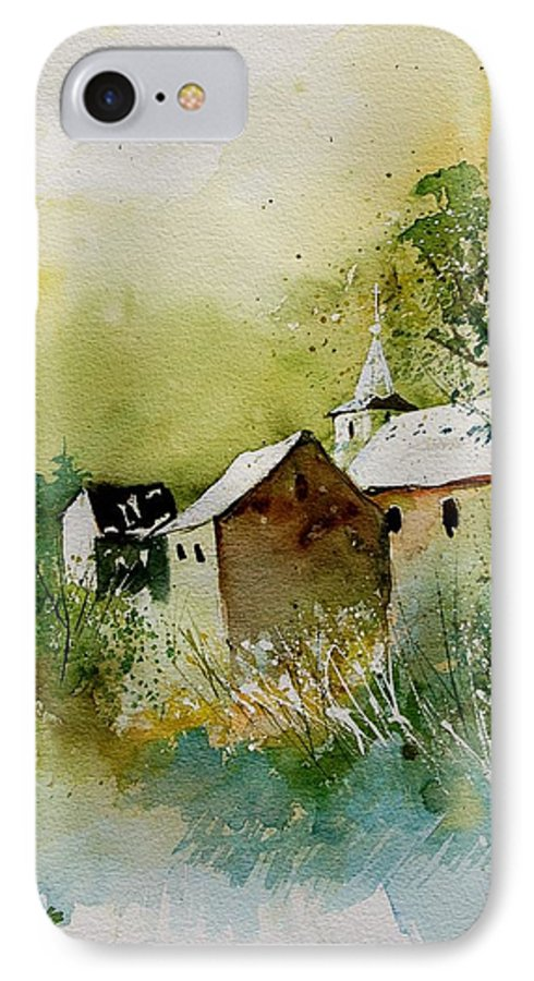 Landscape IPhone 7 Case featuring the painting Watercolor Sosoye by Pol Ledent