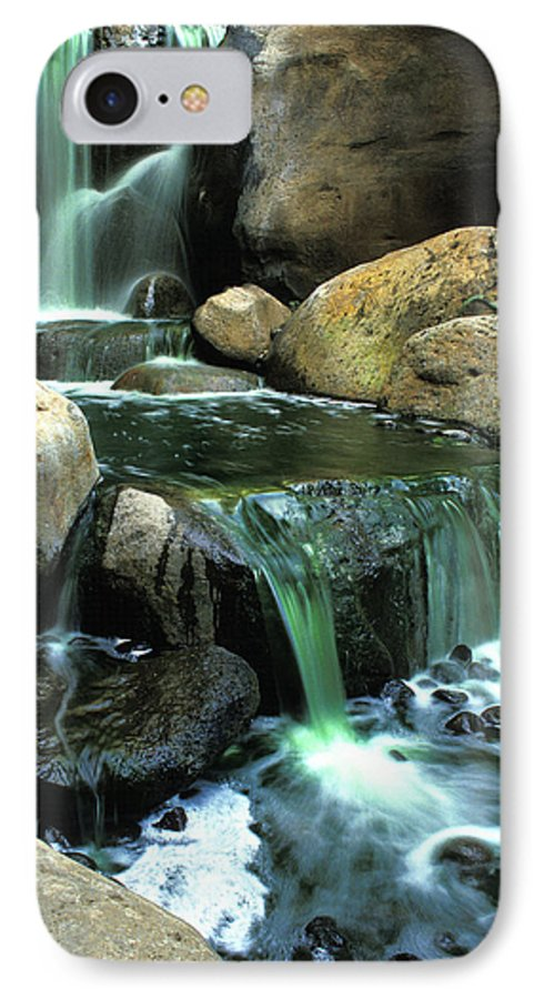 Water IPhone 7 Case featuring the photograph Waterfall On Maui by Carl Purcell
