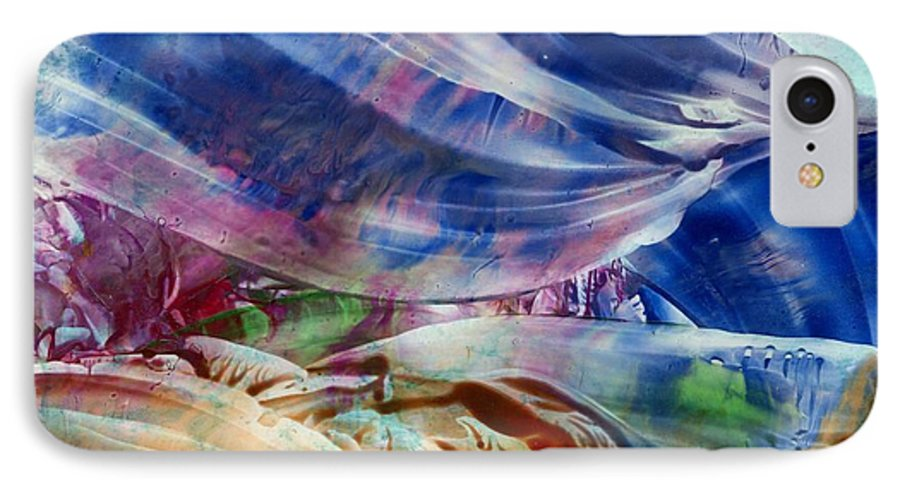 Waves IPhone 7 Case featuring the painting Waves by Eileen Fong