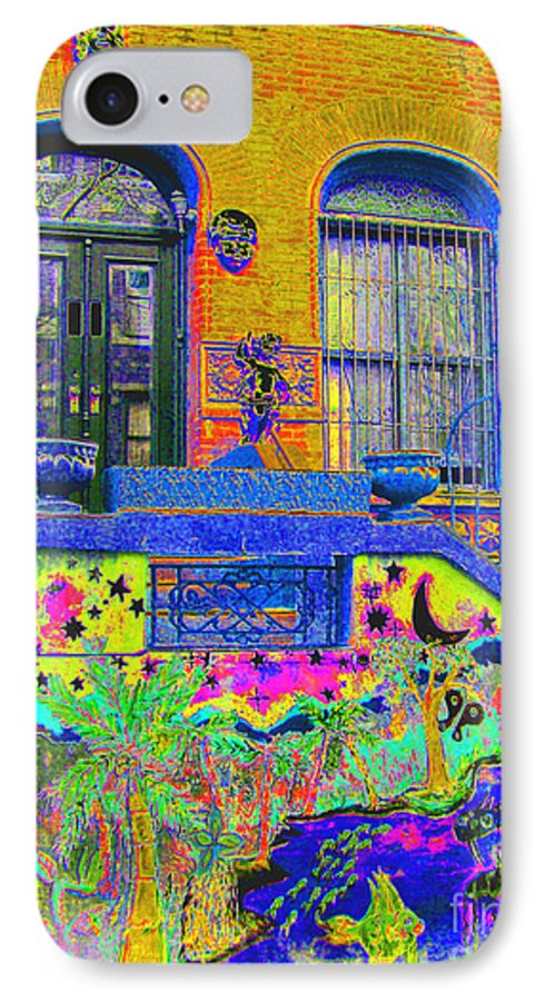 Harlem IPhone 7 Case featuring the photograph Wax Museum Harlem Ny by Steven Huszar
