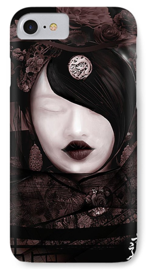 Tao China Princess Fantasy IPhone 7 Case featuring the digital art Ways Of Tao by Fabrizio Uffreduzzi