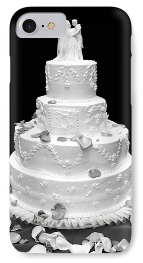 Wedding IPhone 7 Case featuring the photograph Wedding Cake by Marilyn Hunt