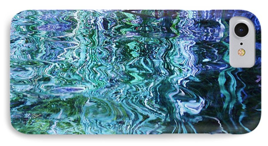 Photograph Blue Green Weed Shadow Lake Water IPhone 7 Case featuring the photograph Weed Shadows by Seon-Jeong Kim
