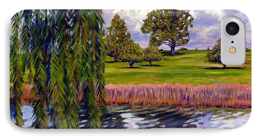 Landscape IPhone 7 Case featuring the painting Weeping Willow - Brush Colorado by John Lautermilch