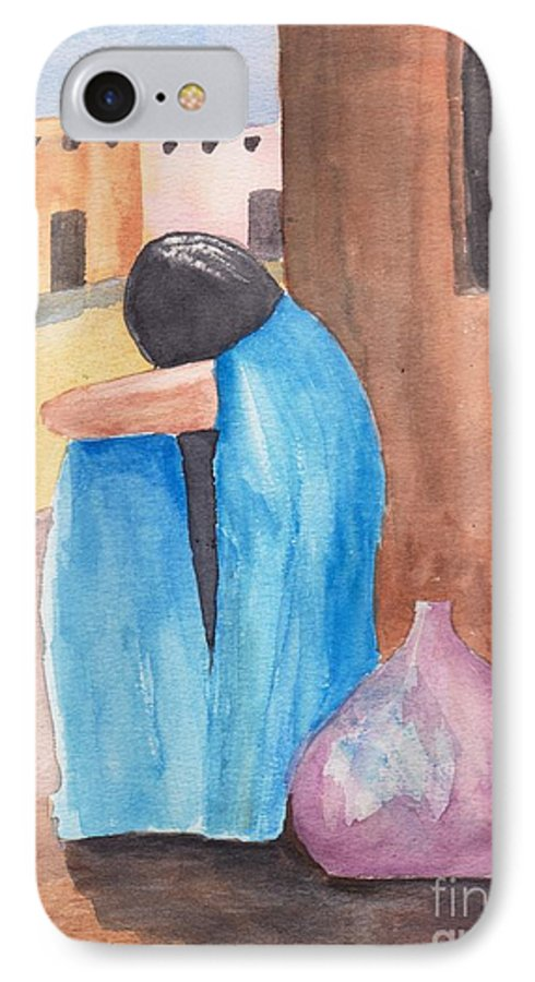 Southwest IPhone 7 Case featuring the painting Weeping Woman by Susan Kubes