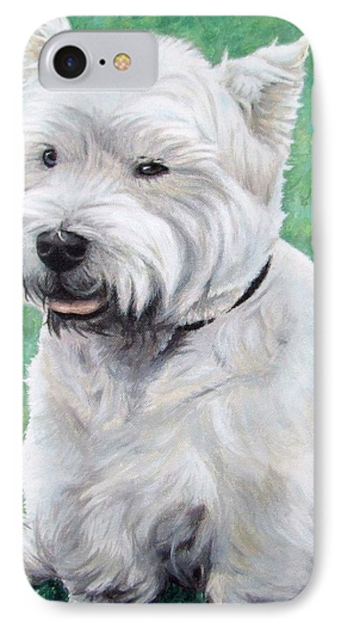 Dog IPhone 7 Case featuring the painting West Highland Terrier by Nicole Zeug