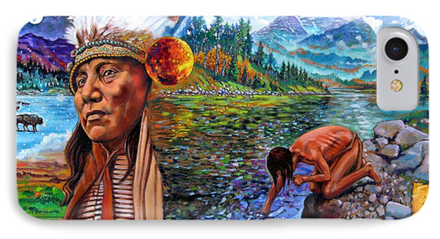 Indian IPhone 7 Case featuring the painting What Is Life by John Lautermilch