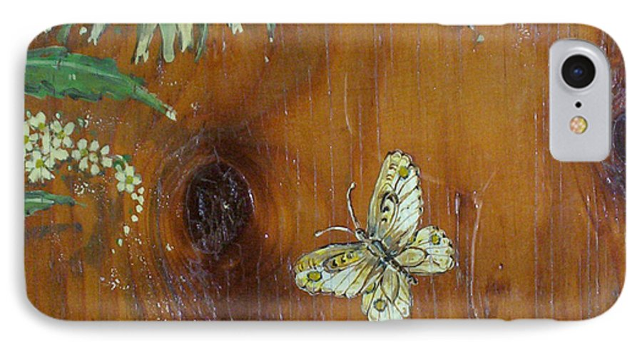 Wildflowers IPhone 7 Case featuring the painting Wheat 'n' Wildflowers II by Phyllis Mae Richardson Fisher