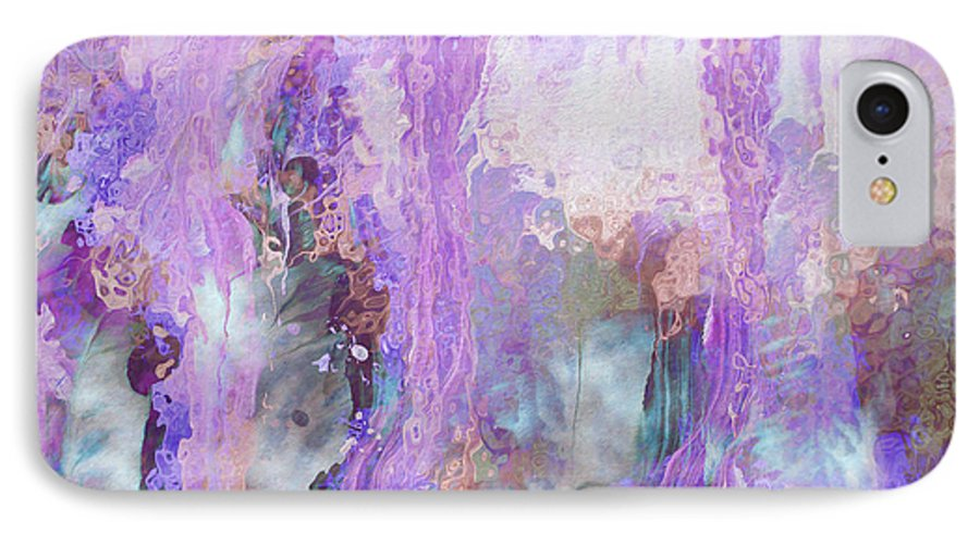 Abstract Art IPhone 7 Case featuring the digital art Whisper Softly by Linda Murphy