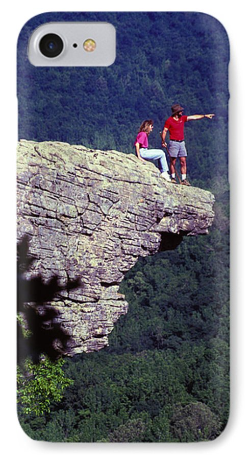 Geological IPhone 7 Case featuring the photograph Whittiker Point In Arkansas by Carl Purcell