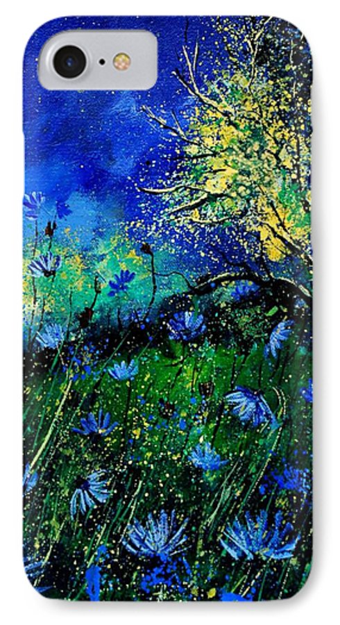 Poppies IPhone 7 Case featuring the painting Wild Chocoree by Pol Ledent