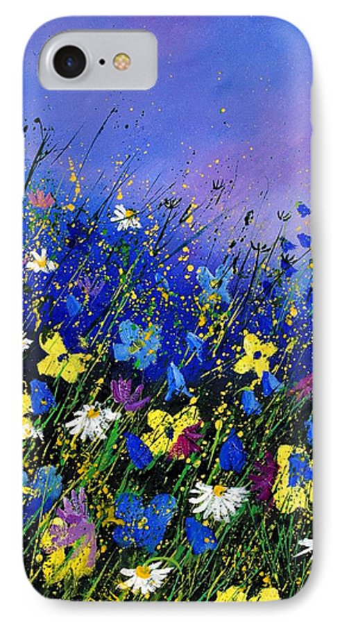 Flowers IPhone 7 Case featuring the painting Wild Flowers 560908 by Pol Ledent