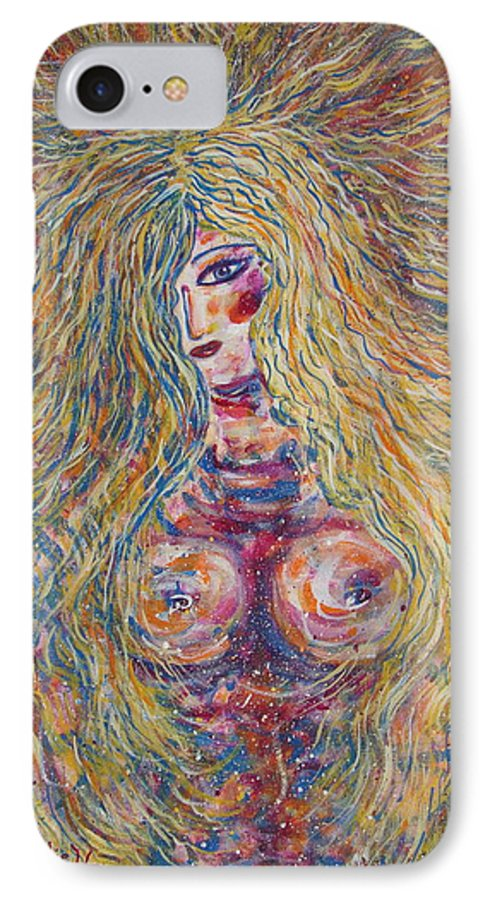 Nude IPhone 7 Case featuring the painting Wild Passion by Natalie Holland