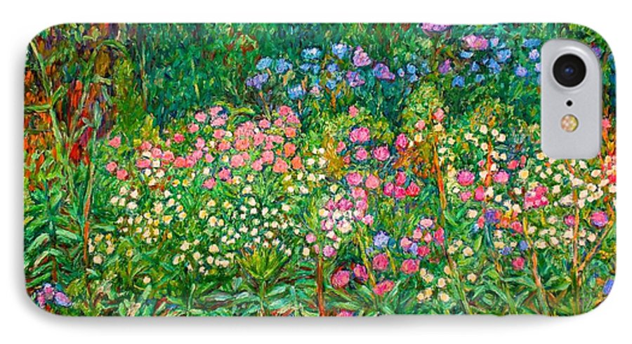 Floral IPhone 7 Case featuring the painting Wildflowers Near Fancy Gap by Kendall Kessler