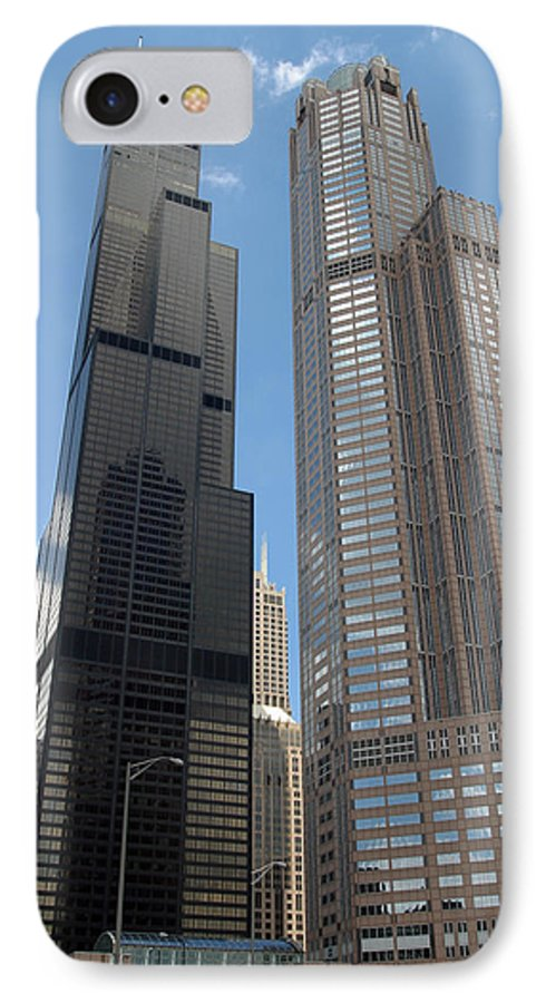 3scape IPhone 7 Case featuring the photograph Willis Tower Aka Sears Tower And 311 South Wacker Drive by Adam Romanowicz