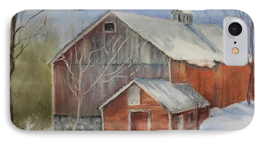 Barn IPhone 7 Case featuring the painting Williston Barn by Carol Mueller
