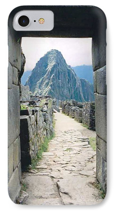 Peru IPhone 7 Case featuring the photograph Winay Picchu by Kathy Schumann