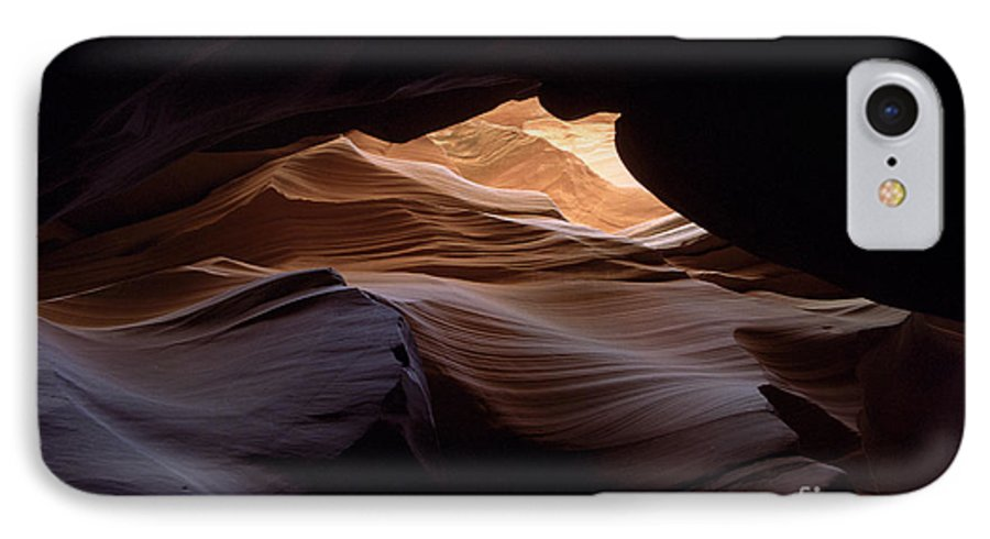 Antelope Canyon IPhone 7 Case featuring the photograph Wind And Water by Kathy McClure