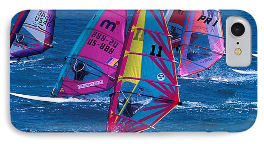 Wind IPhone 7 Case featuring the photograph Wind Surfers In Nassau by Carl Purcell