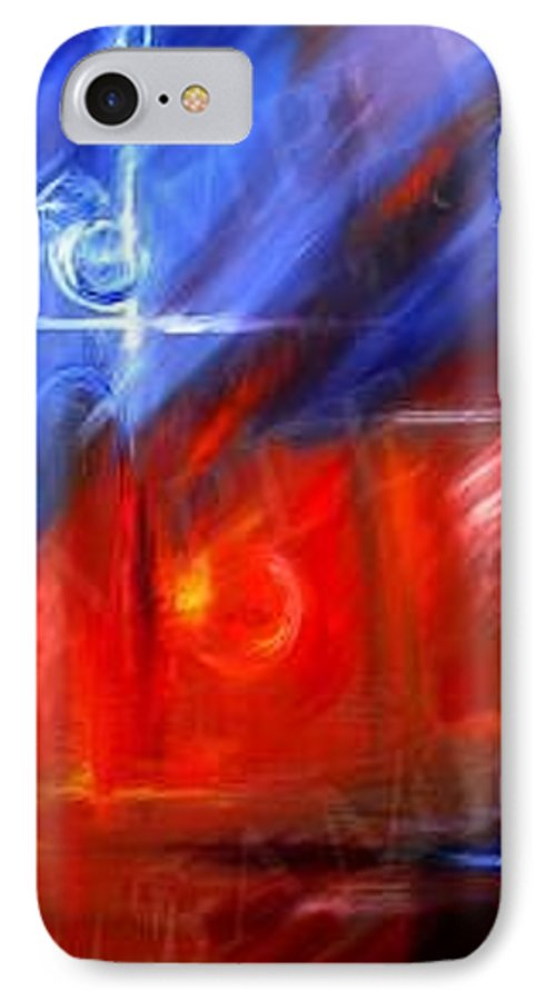 Abstracts IPhone 7 Case featuring the painting Windows by James Christopher Hill