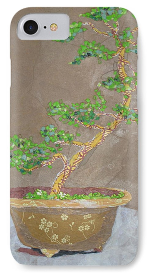 Banzai Tree IPhone 7 Case featuring the painting Windswept Juniper by Leah Tomaino