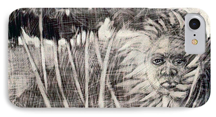 IPhone 7 Case featuring the mixed media Windy by Chester Elmore