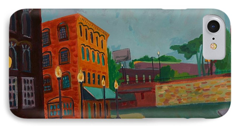 Cityscape IPhone 7 Case featuring the painting Wingate Street by Debra Bretton Robinson