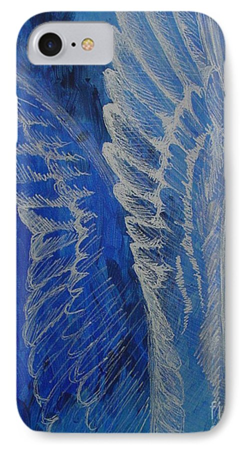 Acrylic IPhone 7 Case featuring the painting Wings Of Angel by Jindra Noewi
