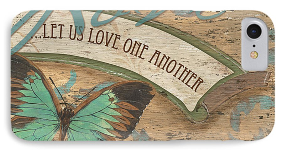 Butterfly IPhone 7 Case featuring the painting Wings Of Love by Debbie DeWitt