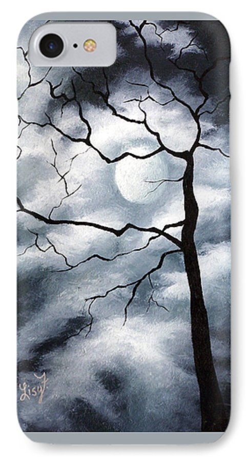 Winter IPhone 7 Case featuring the painting Winter Evening by Elizabeth Lisy Figueroa
