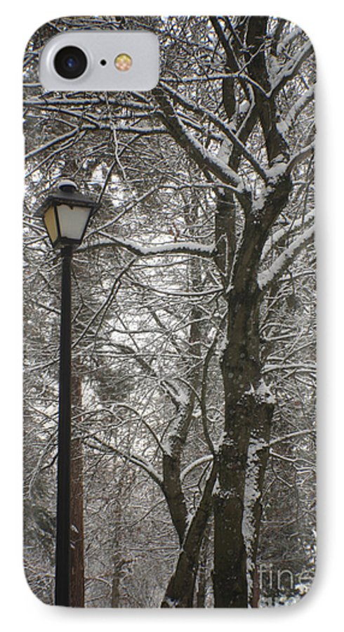 Lamp IPhone 7 Case featuring the photograph Winter Lamp Post by Idaho Scenic Images Linda Lantzy