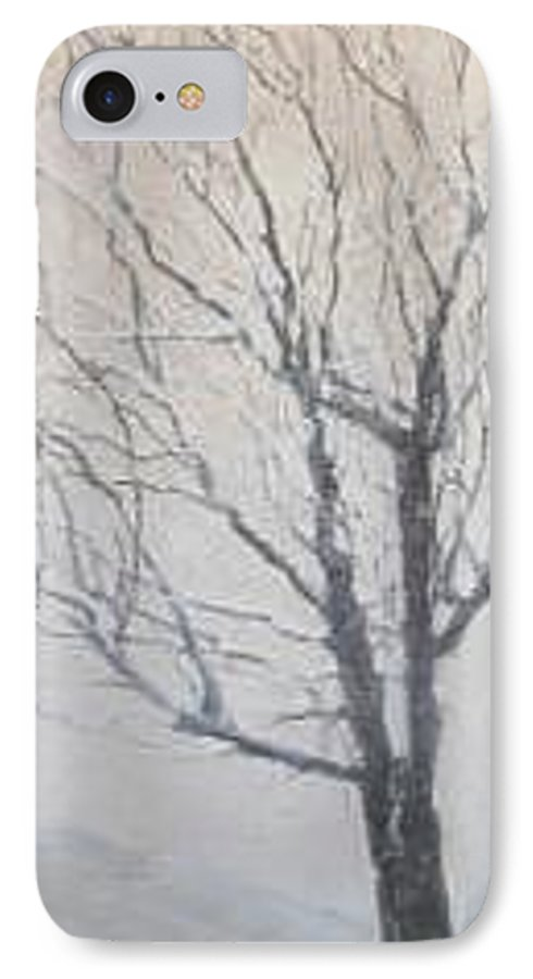 Tree IPhone 7 Case featuring the painting Winter by Leah Tomaino