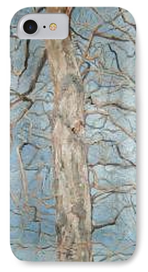 Tree IPhone 7 Case featuring the painting Winter Morning by Leah Tomaino