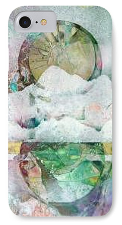 Abstract IPhone 7 Case featuring the painting Winter Solstice by Marlene Gremillion